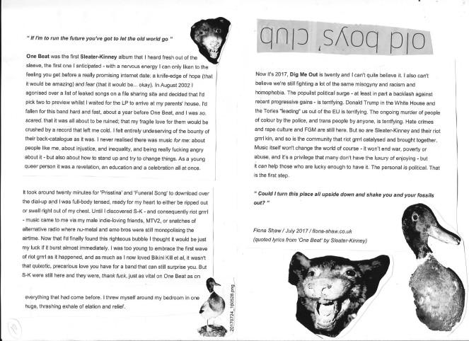 Woods fanzine center fold 001